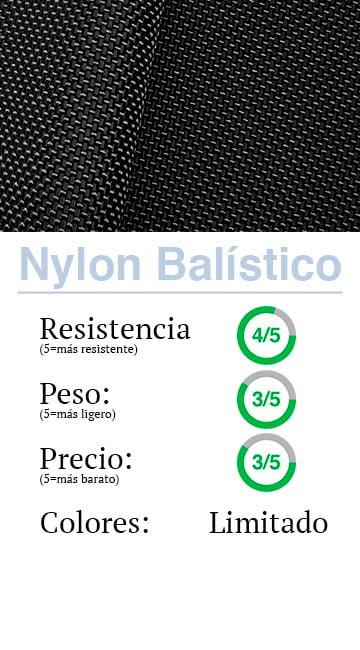 Materiales: Nylon Balístico